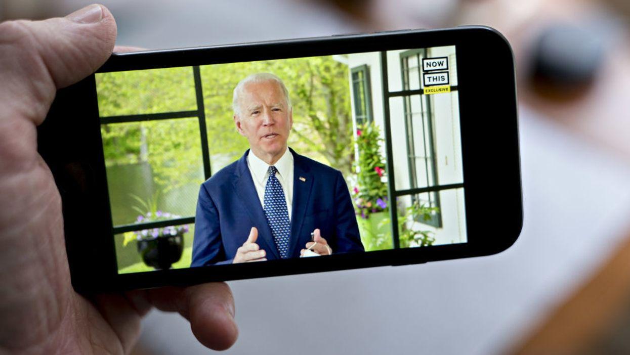 Joe Biden on a cell phone