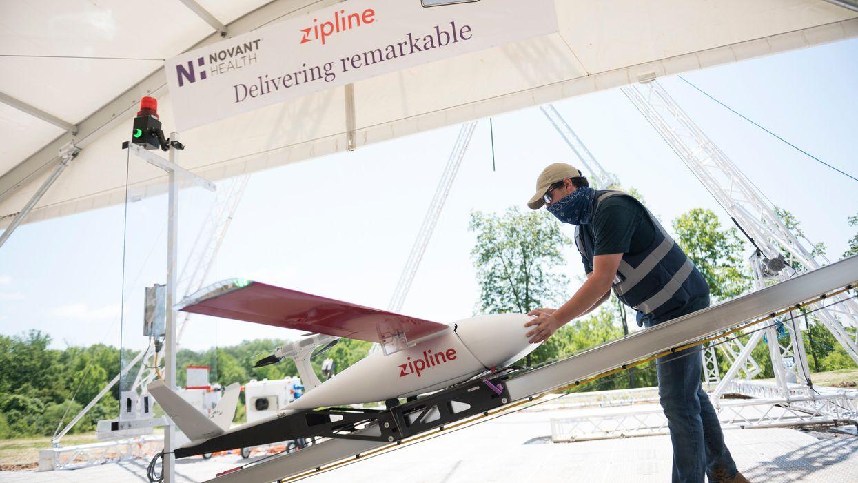 Zipline's package-carrying drone