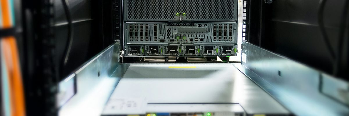 An NVIDIA DGX A100 being installed at Argonne National Laboratory.