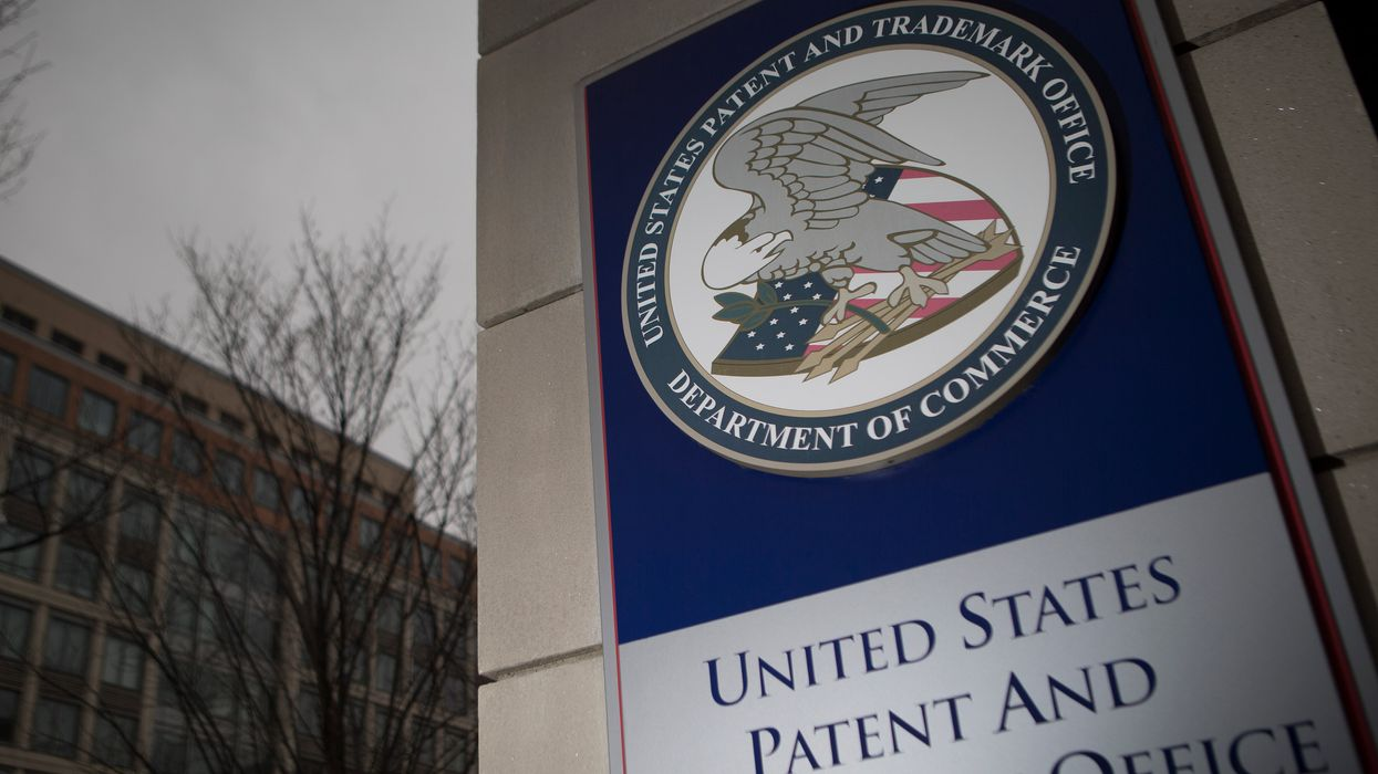 The outside of the U.S. Patent and Trademark Office