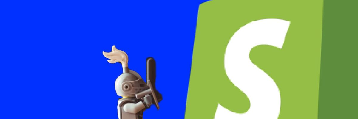 Shopify vs LEGO knight