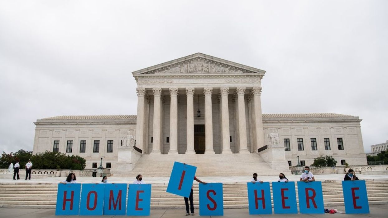 Activists in front of the U.S. Supreme Court in Washington, D.C.