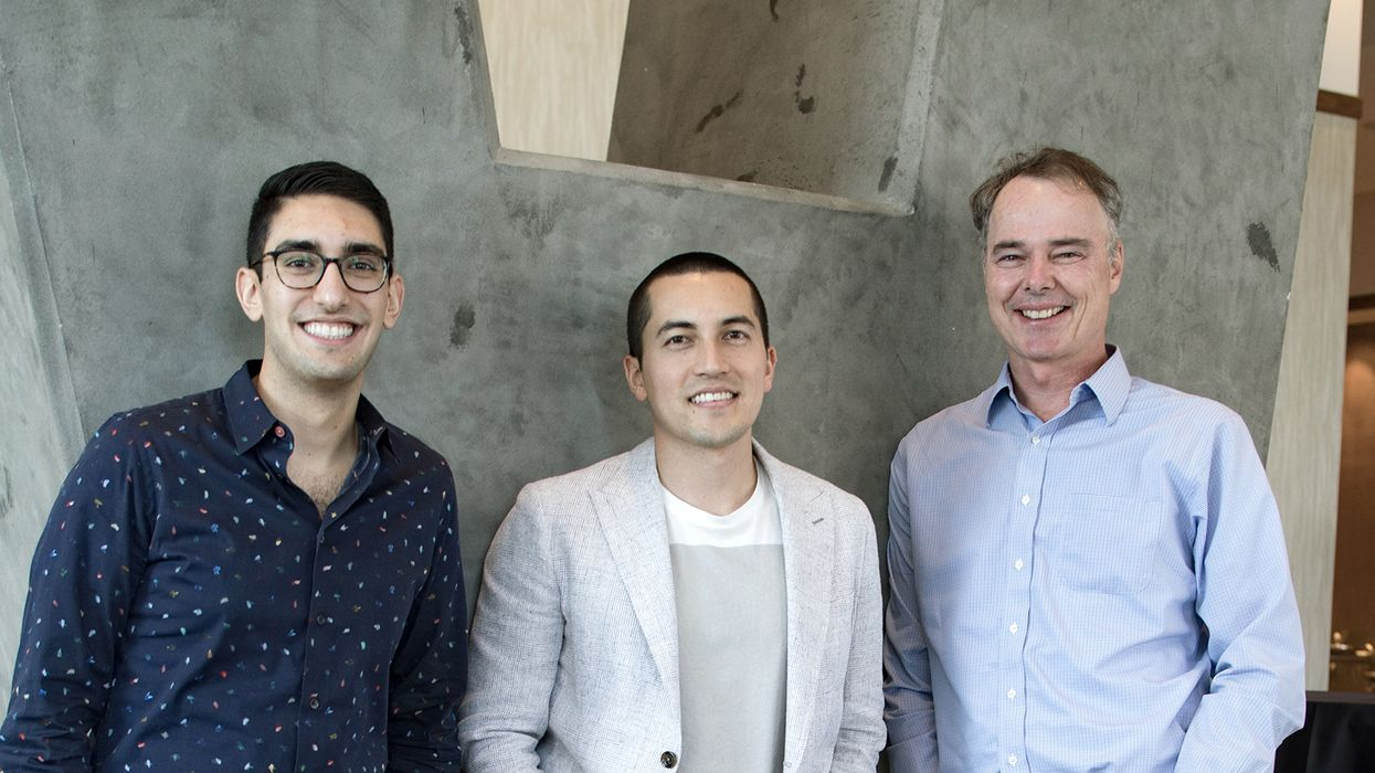 ​HashiCorp co-founders Armon Dadgar and Mitchell Hashimoto with CEO Dave McJannet.