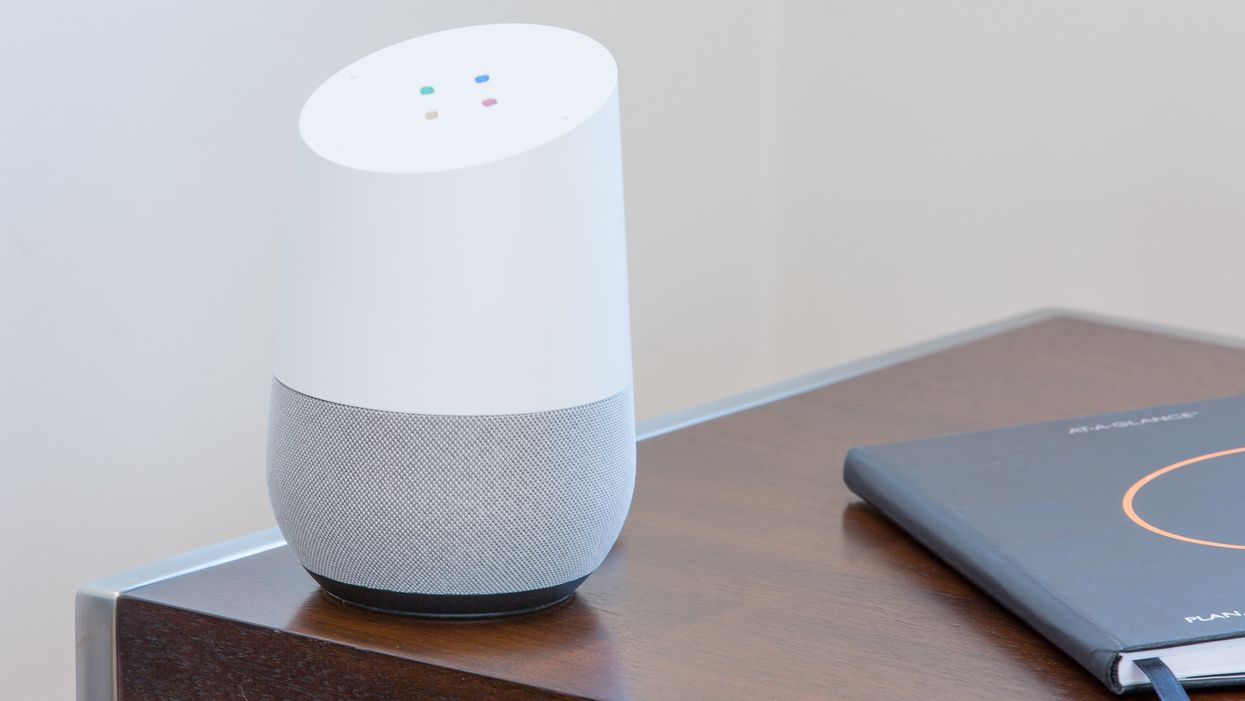 The Google Home speaker on a table
