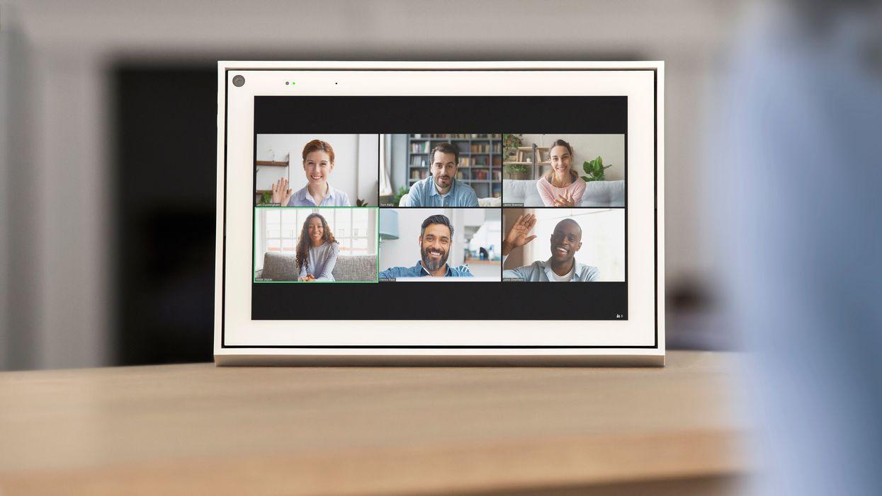 Zoom app on Facebook's Portal smart display