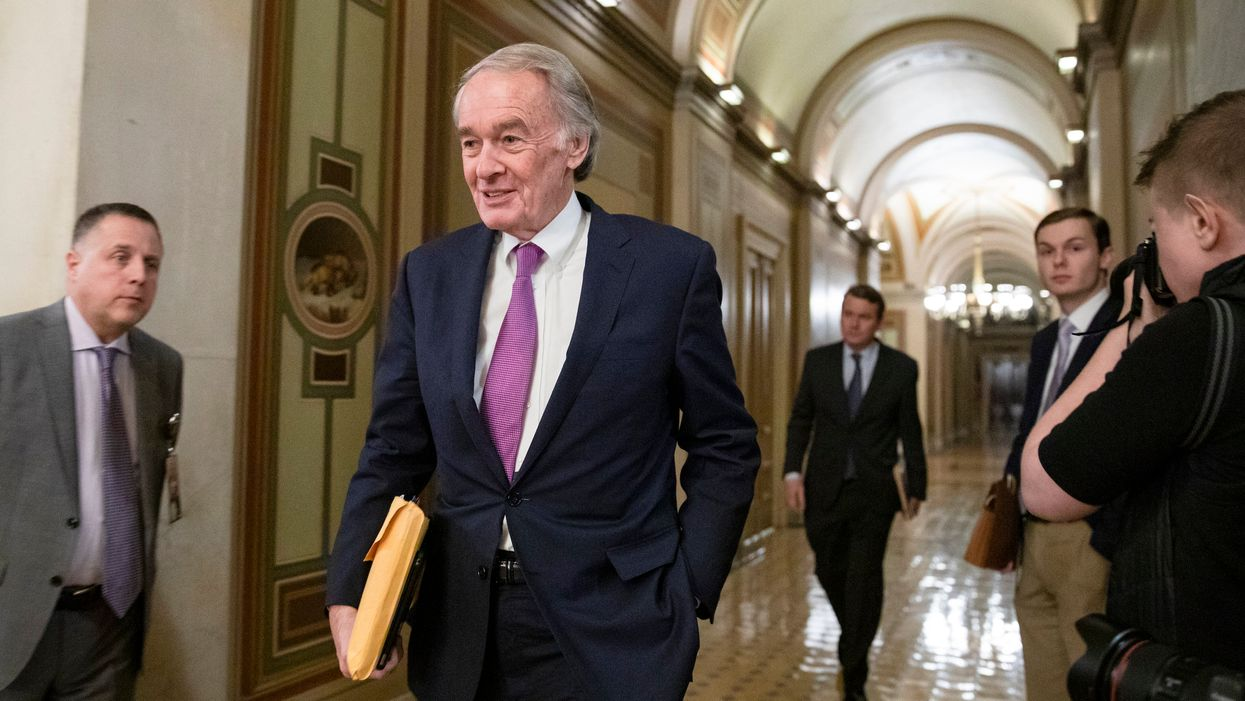 Sen. Ed Markey walking down the hall