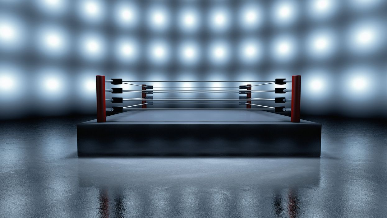 An empty boxing ring