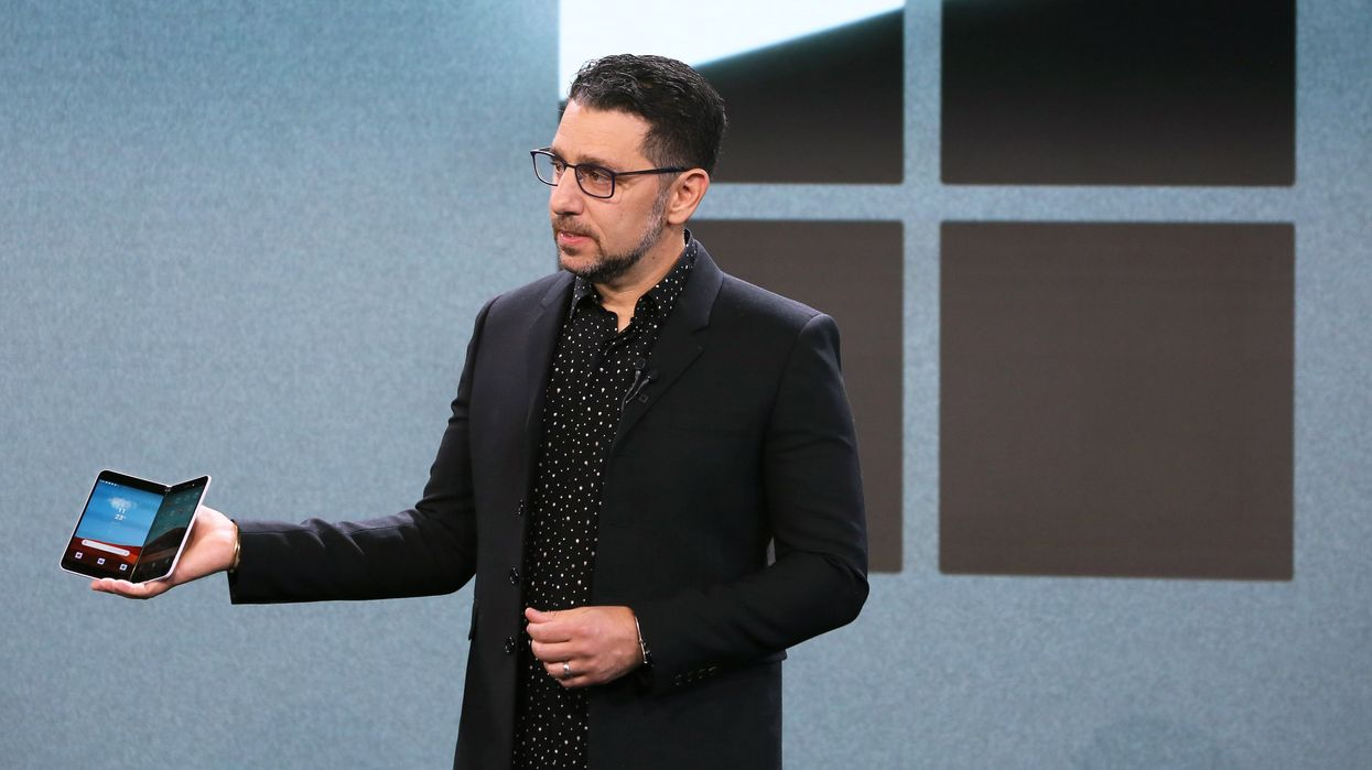 Panos Panay introduces the Surface Duo.