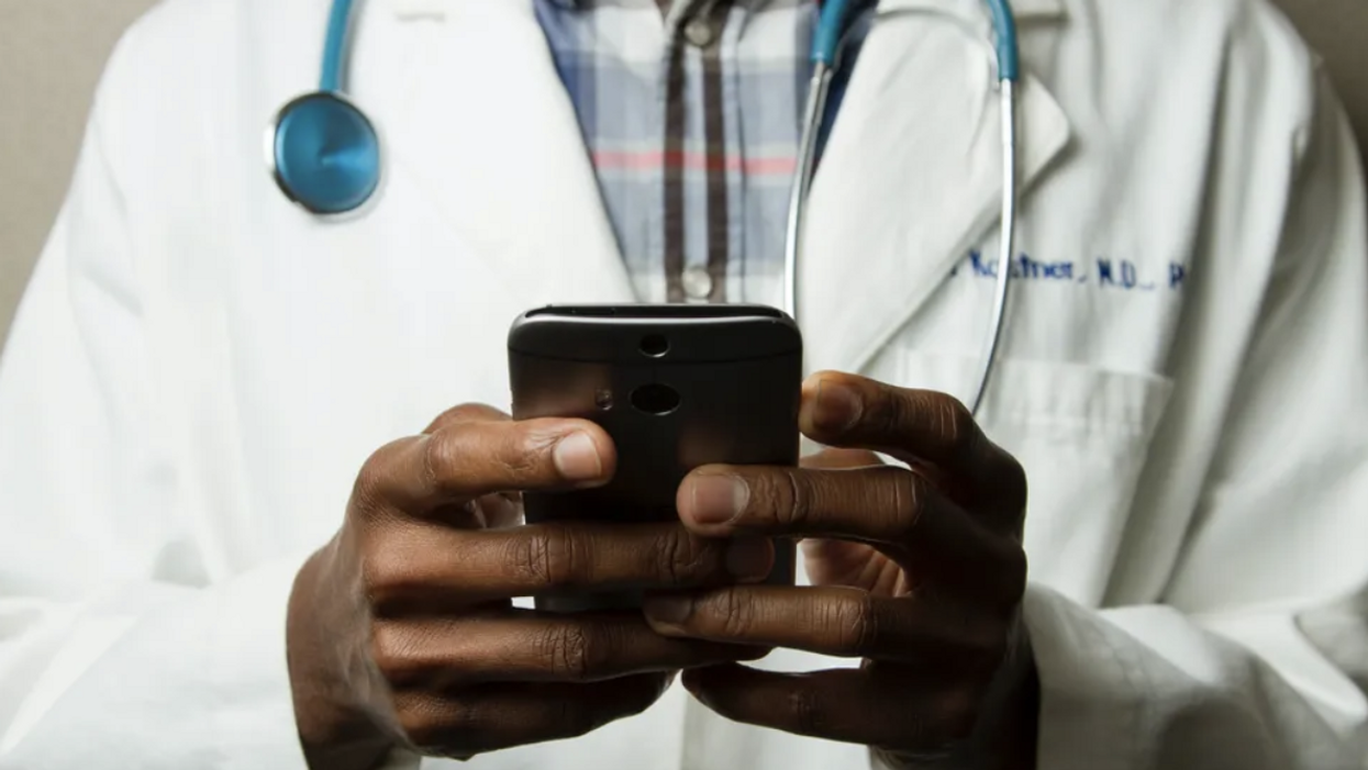 Doctor and phone