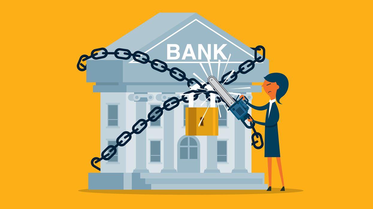 Unlocking a bank