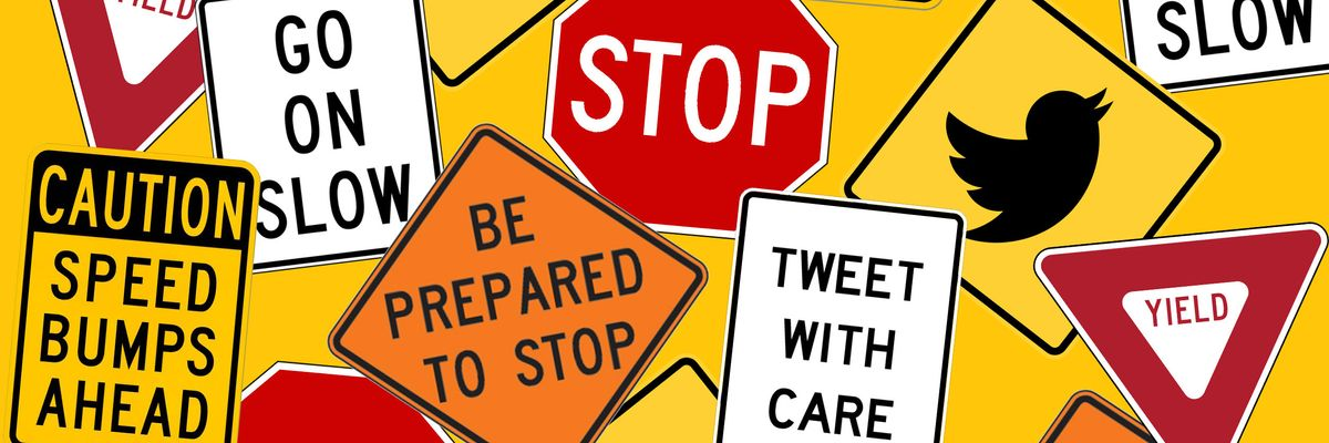Twitter stop signs