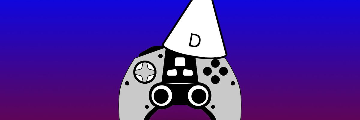 Controller with a dunce cap