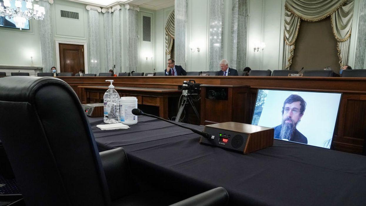 Jack Dorsey testifies before the Senate Commerce Committee