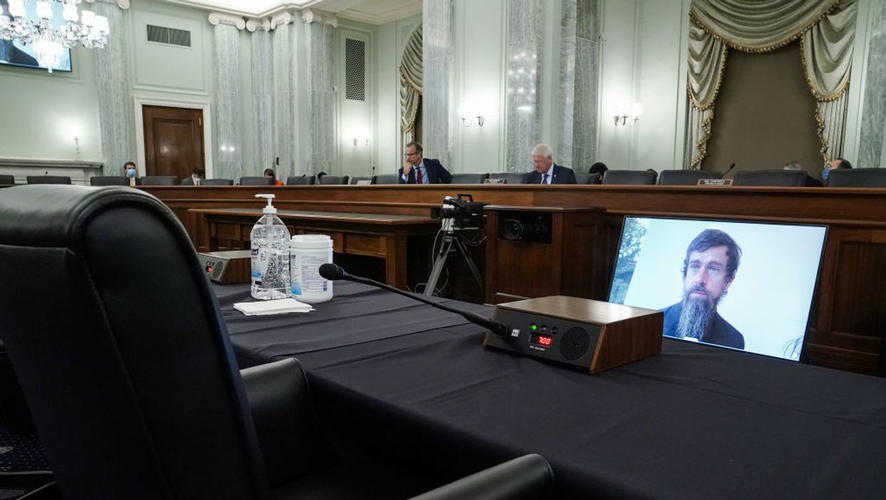 Jack Dorsey testifies before the Senate Commerce Committee