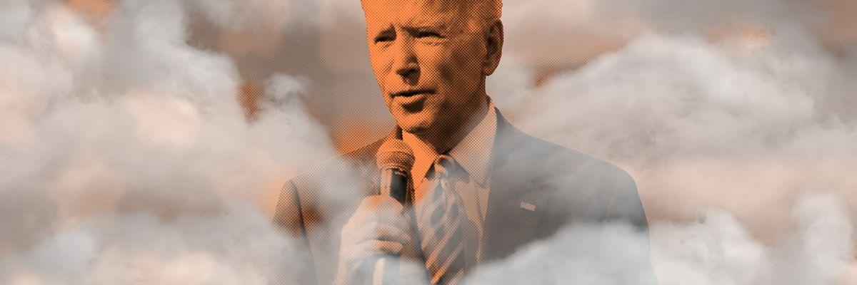 Biden in the clouds