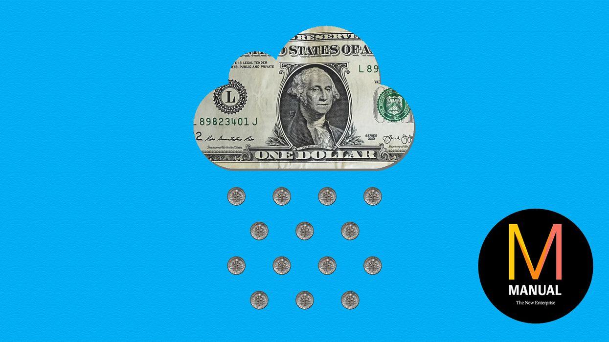 A cloud-shaped dollar bill