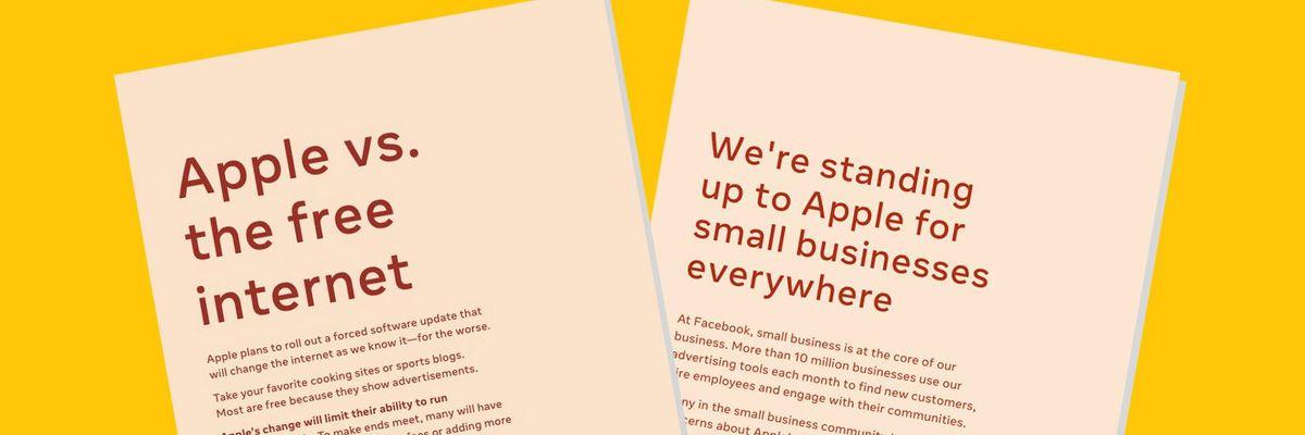 Facebook Apple letters
