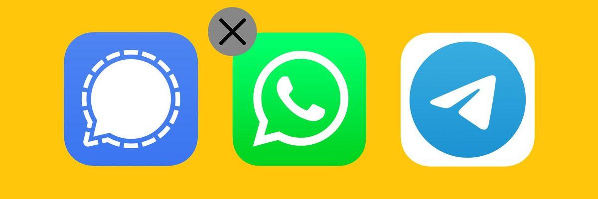Signal, WhatsApp and Telegram
