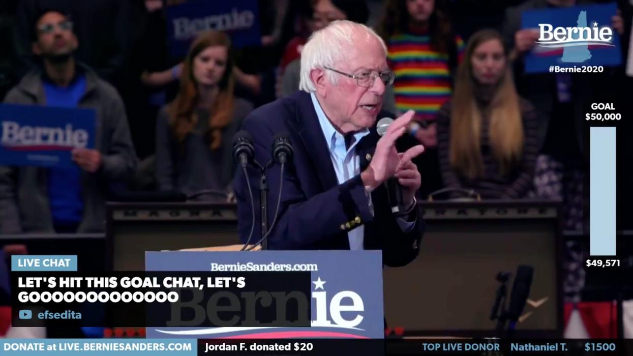 Bernie Sanders campaign raising money with Hovercast