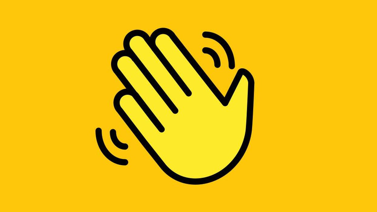 Clubhouse wave emoji