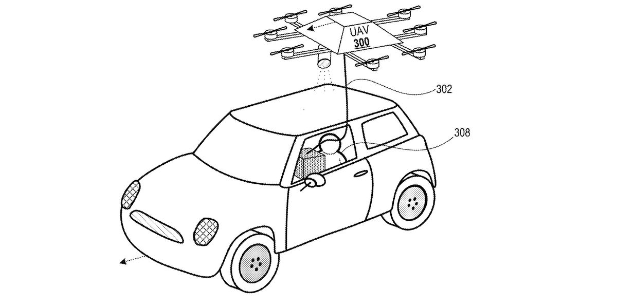 Microsoft wants to deliver to your car with drones