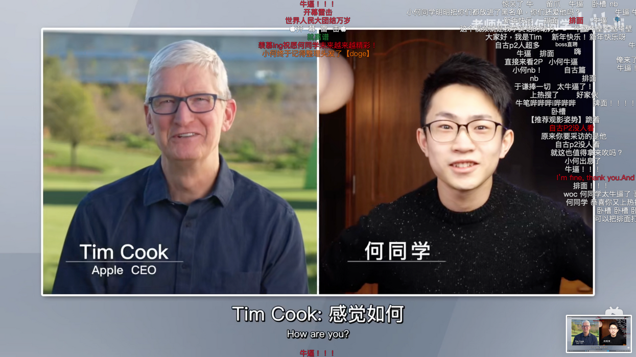 Tim Cook grants rare interview to a Chinese tech influencer
