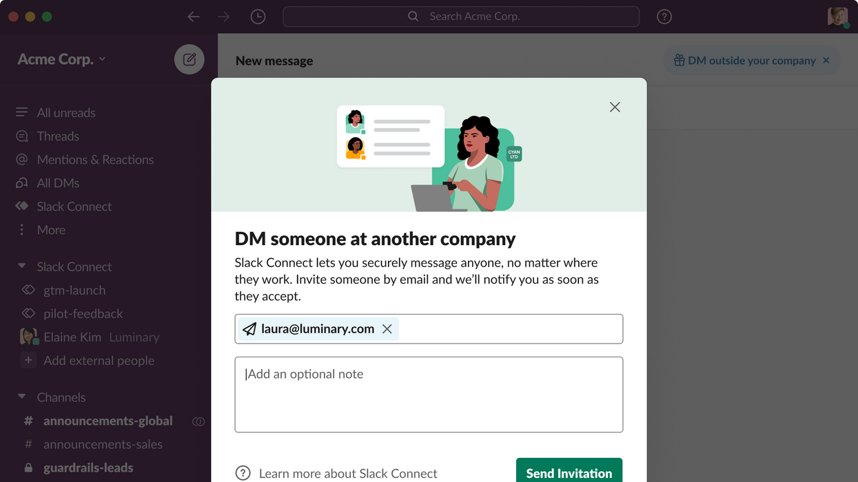 Slack Connect DMs