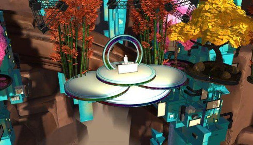 Steve Aoki VR stage