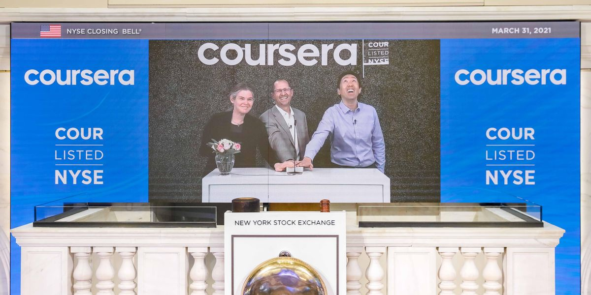 Online learning is 'here to stay': Coursera shares soar