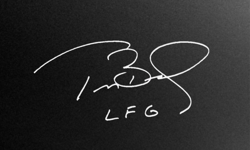 Tom Brady signature