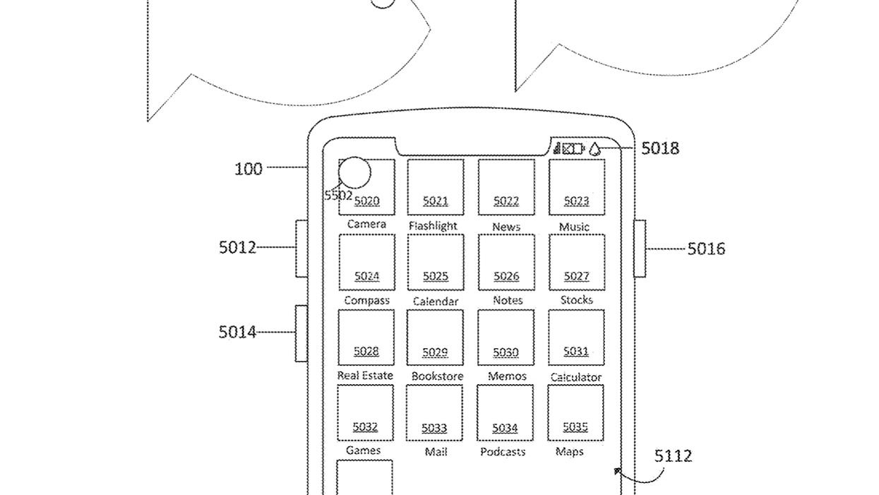 Apple has taken out a patent on a technique for making touchscreens work underwater.