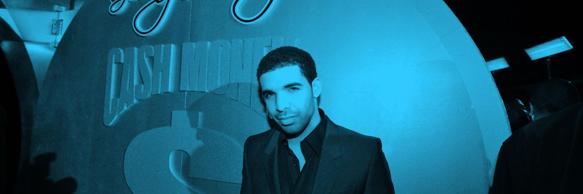 Singer Drake arrives at the Cash Money Records Annual Pre-Grammy Party at the Lot on February 12, 2011, in West Hollywood, California.