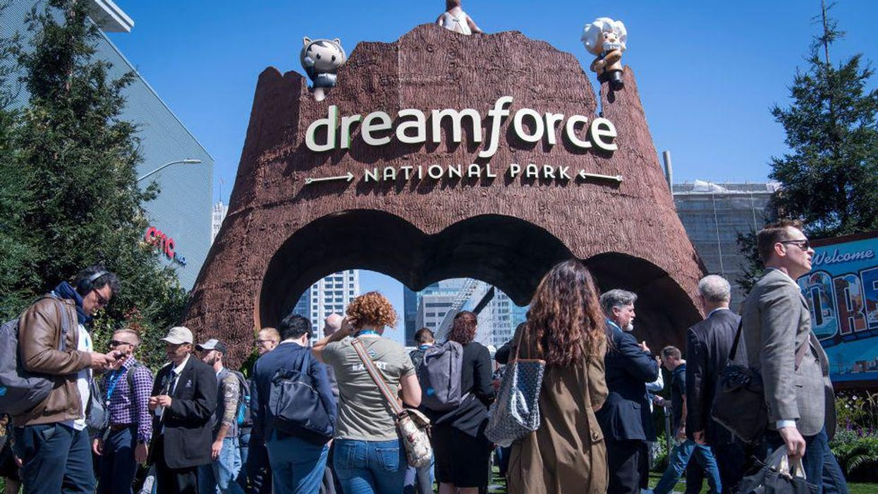People attending a Dreamforce event.