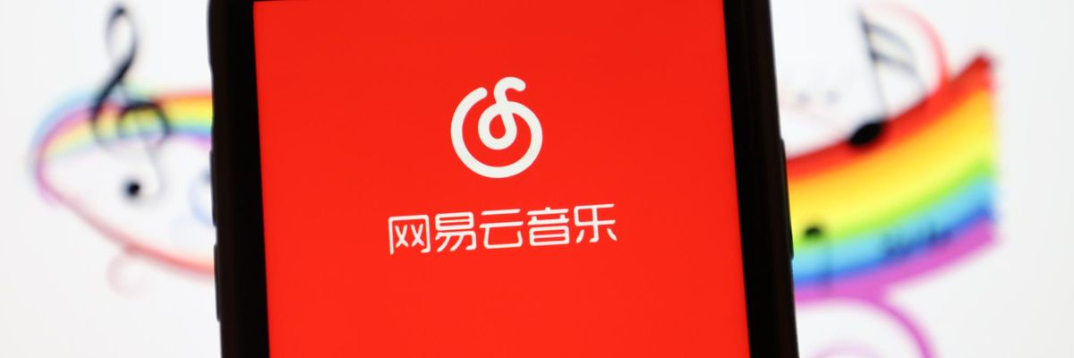 LINYI, CHINA - MARCH 3, 2021 - A mobile phone shows app Netease cloud music interface, Linyi City, Shandong Province, China, March 3, 2021.- PHOTOGRAPH BY Costfoto / Barcroft Studios / Future Publishing