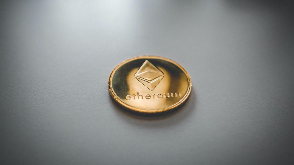 An Ethereum coin