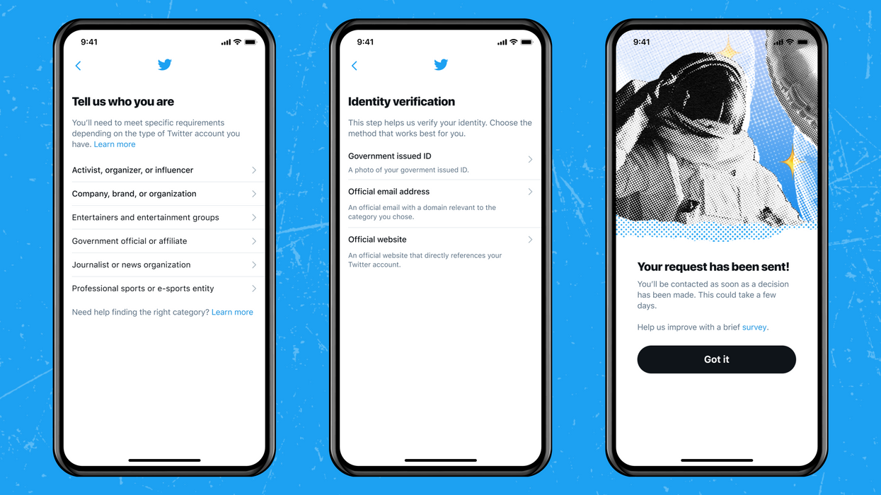 Twitter's new verification process.