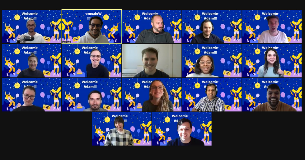 A Zoom screenshot of the Browser Company team