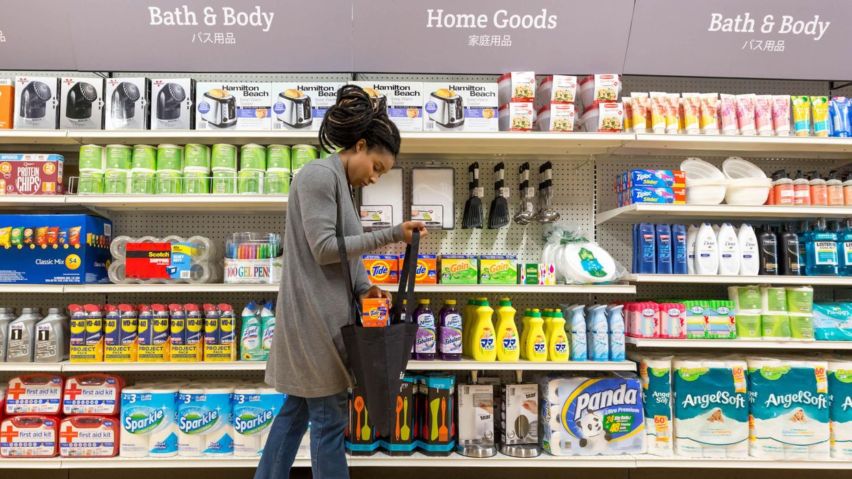 woman in a store aisle