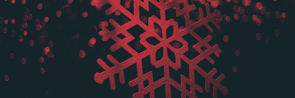 A snowflake decoration