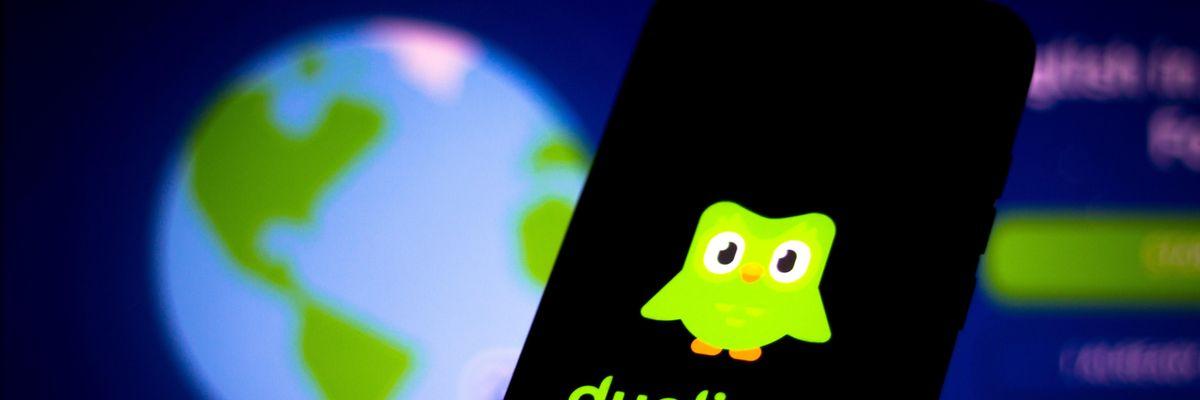 Duolingo app on a phone