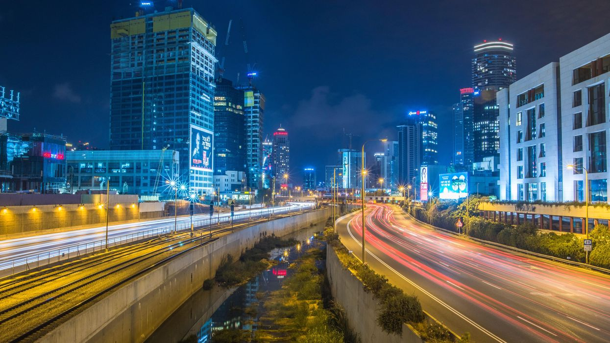 Time-lapse photo of tall buildings in Tel Aviv