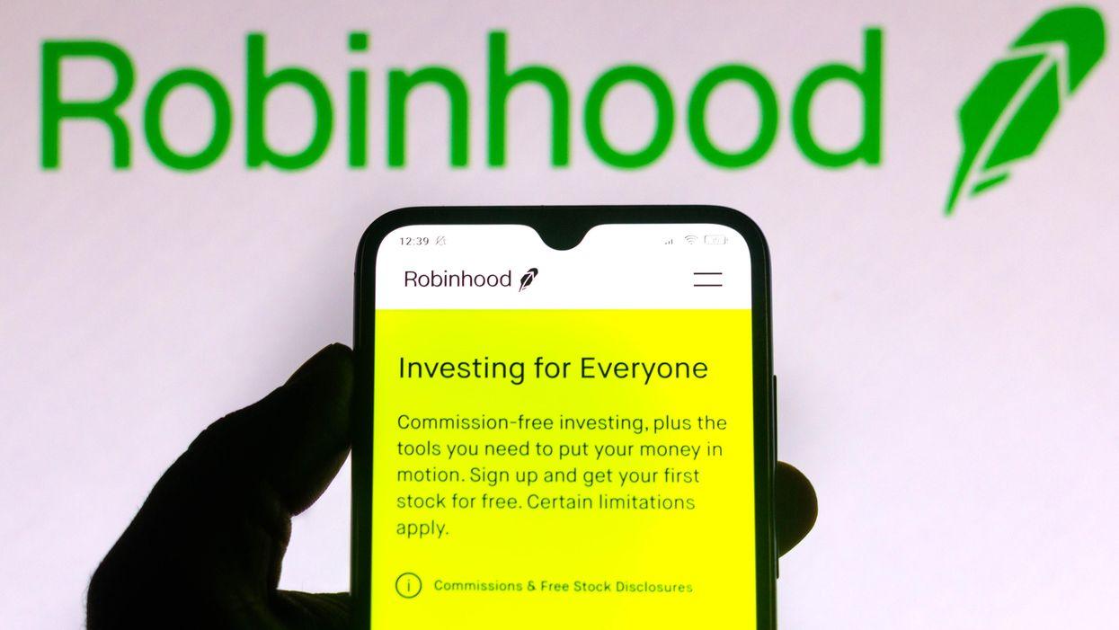 The Robinhood app on a phone