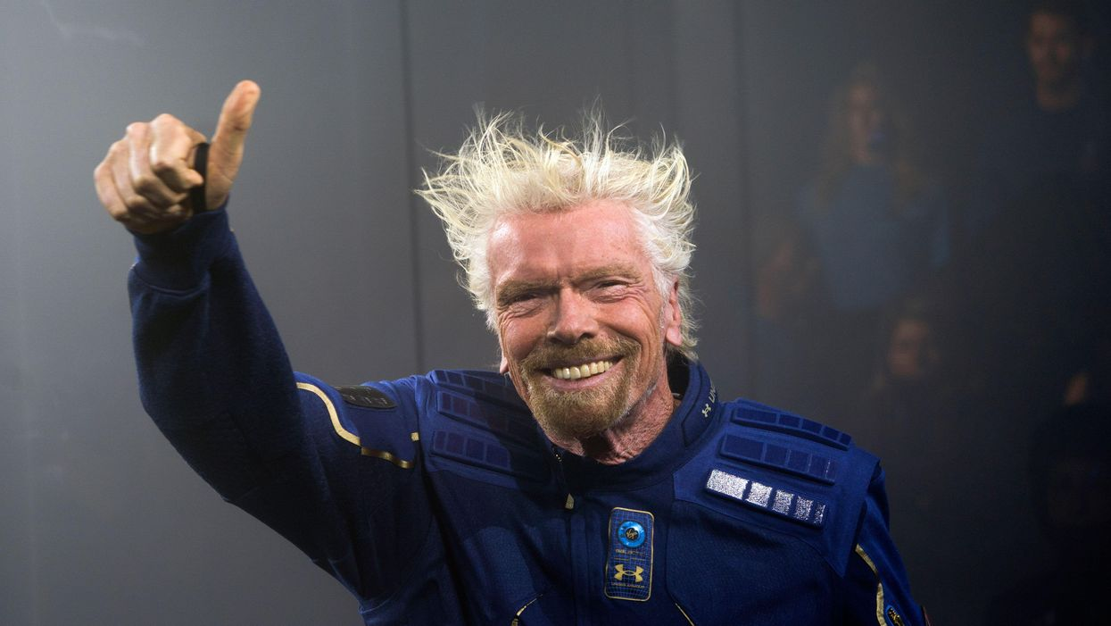 Virgin Galactic Founder Sir Richard Branson in a spacewear system