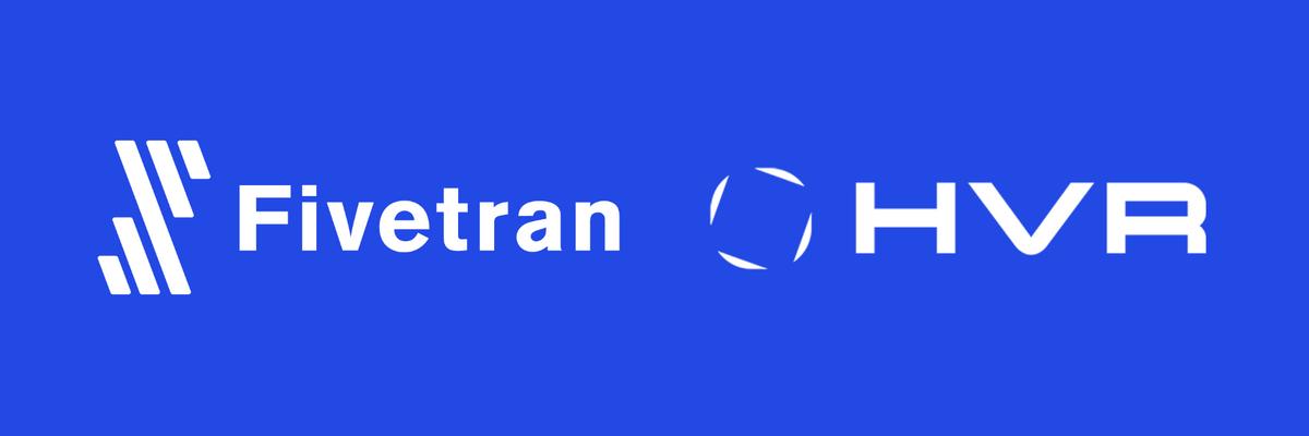 Fivetran and HVR logos