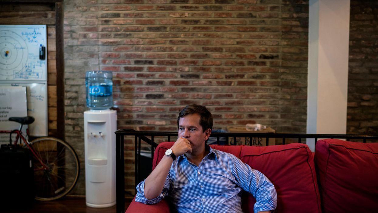 John Ackerly at his Virtu office