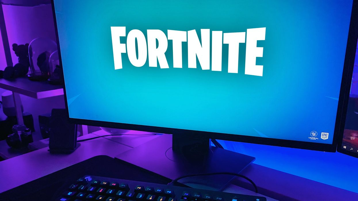 Fortnite on a gaming computer