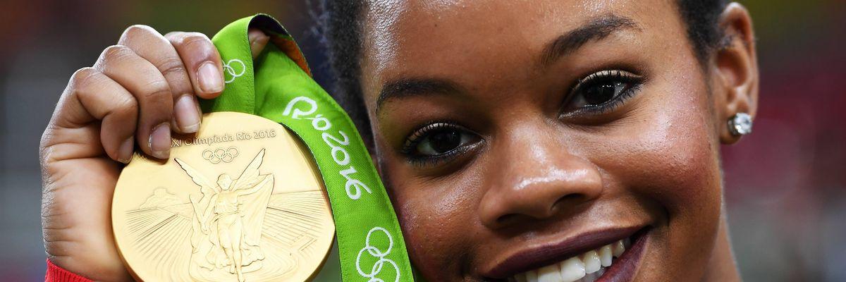 Gabby Douglas at the 2016 Rio Olympics.