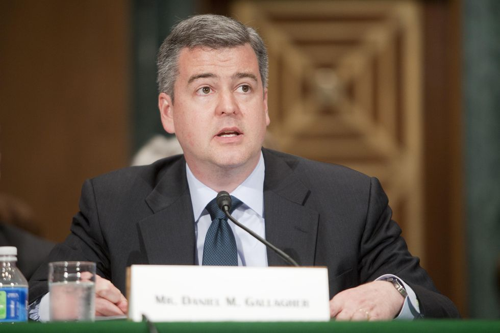 Gallagher testifies at his 2011 confirmation hearing as an SEC commissioner nominee.
