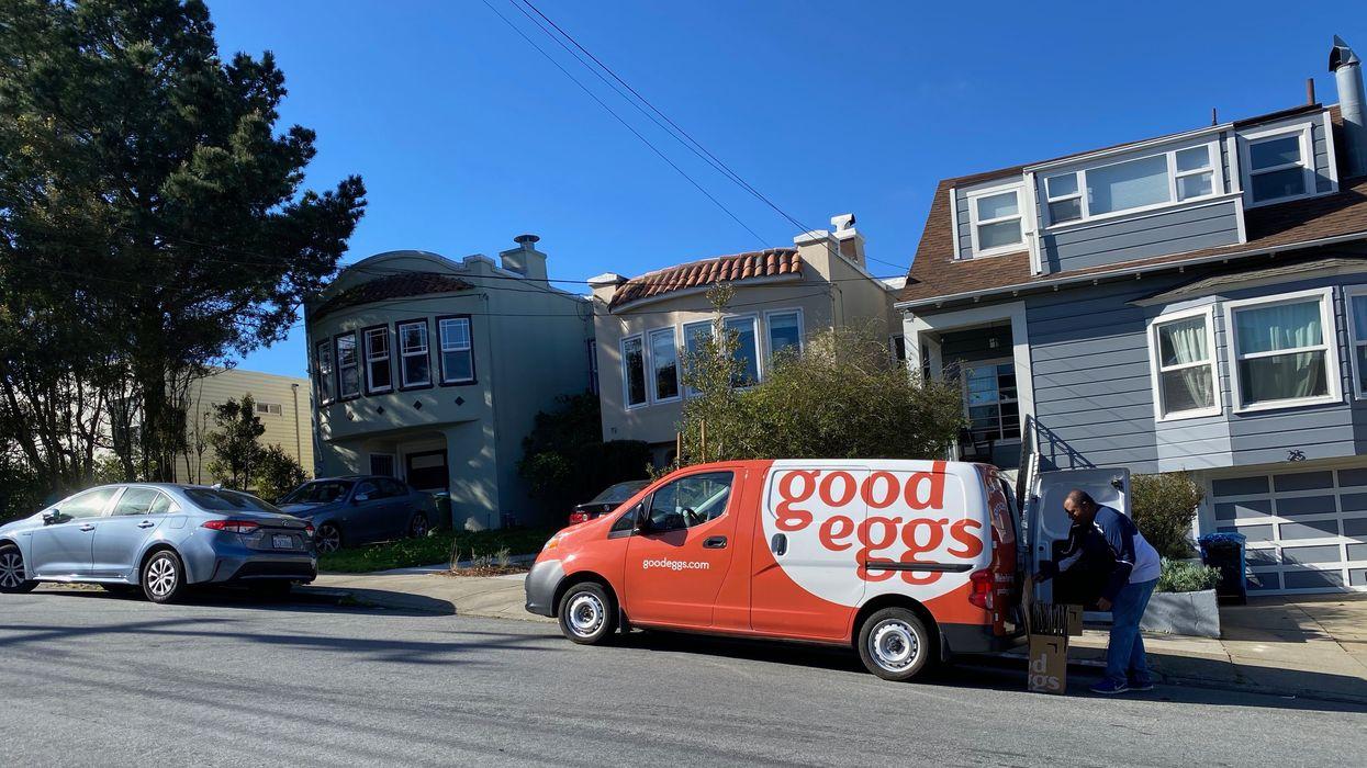 A Good Eggs van in San Francisco