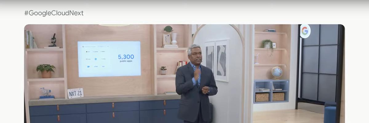Google Cloud CEO Thomas Kurian speaks at Google Cloud Next 2021